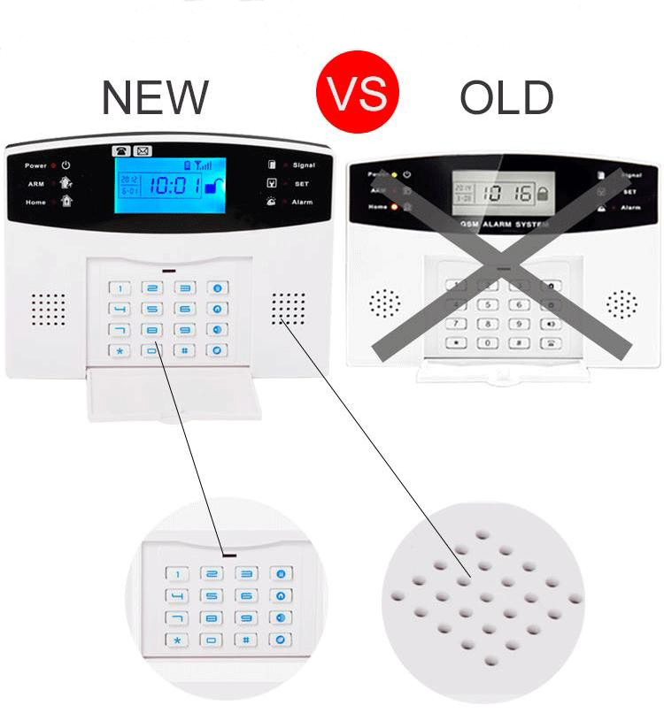 WOFEA Russian English Spanish France voice  Smart Home Security GSM Alarm System Remote Control by SMS & Calling with LCD keypad 11