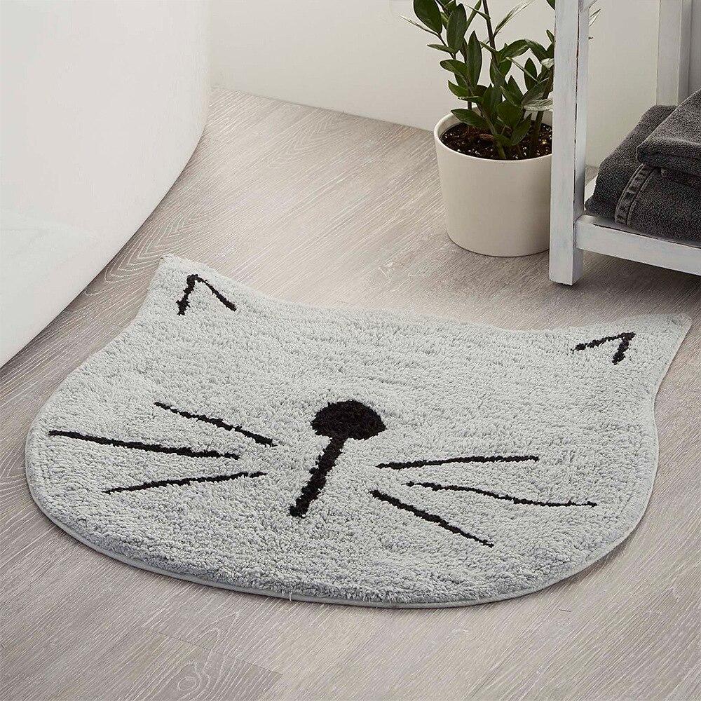FANCAI tapis imperméable salon salle de bain chambre dessin animé chat porte tapis de sol