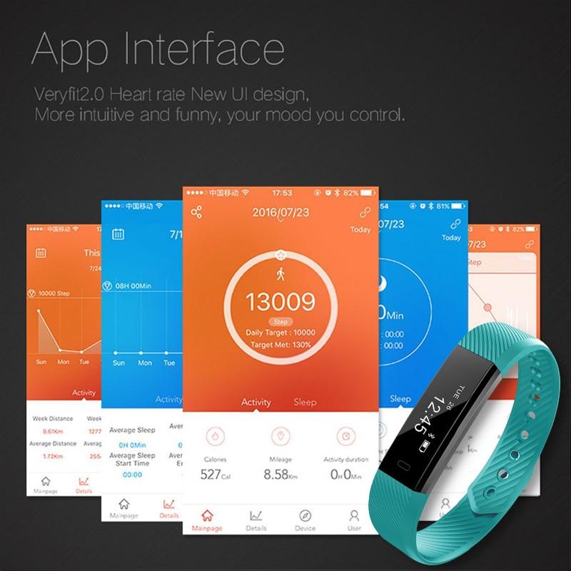 Smart Watch Bransoletka Fitness Tracker Krok Licznik Aktywność - Męskie zegarki - Zdjęcie 4