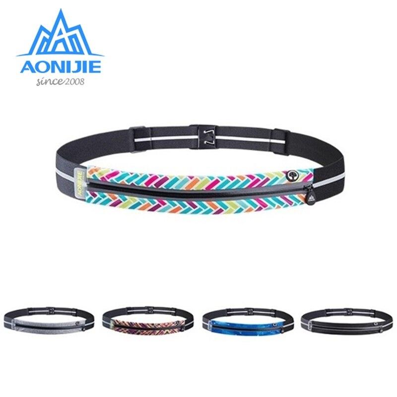 AONIJIE W956 Adjustable Slim Running Waist Belt Jogging Bag Fanny Pack Travel Marathon Gym Workout Fitness 6.8in Phone Holder