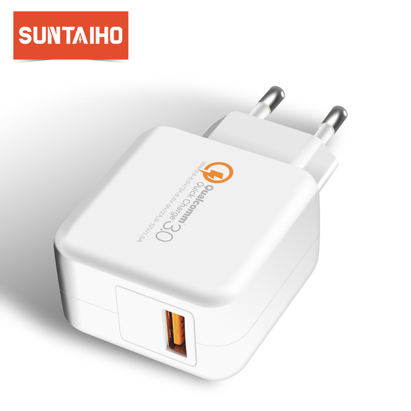 Suntaiho QC 3.0 USB Phone Charger for iPhone/Samsung/Xiaomi US USB Charger Travel Wall Quick Charger Adapter Phone Charger