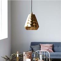 SGROW Nordic датский дом врач Астон геометрический подвесные светильники для Обеденная Спальня светильники из золотистого металла лампа