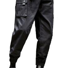 Grandwish Hot Side Pockets Work Pants Men s Hip Hop Patchwork Cargo Ripped Sweatpants Joggers Trousers