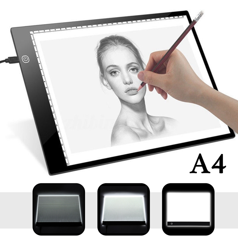 A4 Drawing Tablet Digital Graphics Pad USB LED Light Box Tracing Copy Board Electronic Art Graphic Painting Writing Table