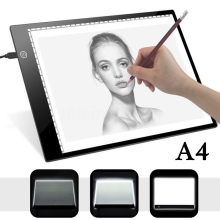 А4 планшет для рисования цифровой графический коврик USB светодиодный светильник коробка Трассировка копировальная доска электронная художественная графическая живопись письменный стол