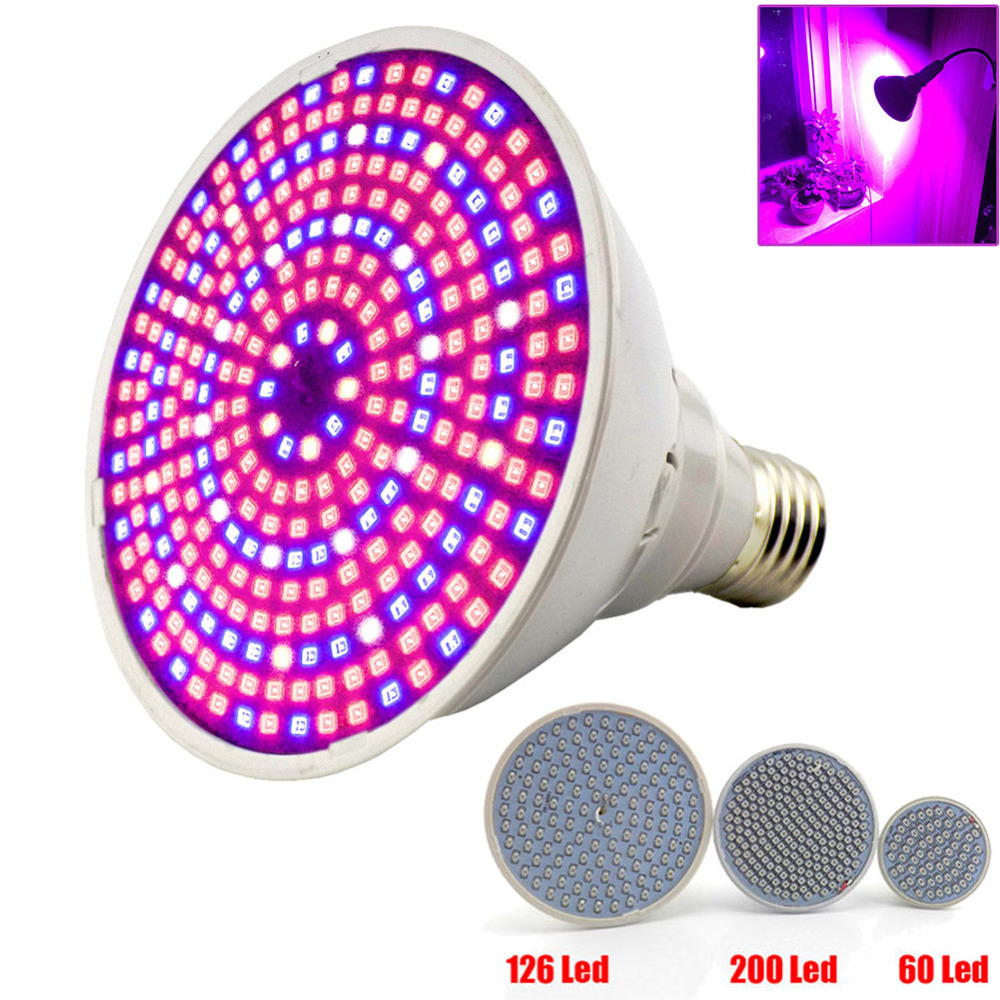 Full Spectrum Plant Grow Led Light Bulbs Lamp Lighting For Seeds Hydro Flower Greenhouse Veg Indoor Garden E27 Phyto Growbox
