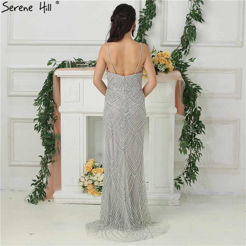 ... Dubai New Luxury Sexy Sleeveless Evening Dresses Mermaid Diamond  Beading Mermaid Evening Gowns 2019 LA6628 ... 453aa3f0a712