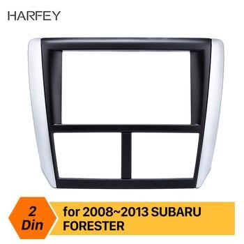 Harfey coche negro Radio Fascia doble Din para Subaru Forester 2008-2013 Impreza de Frame Dash CD DVD GPS envolvente Panel