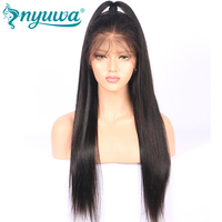 Pre Plucked Glueless Full Lace Human Hair Wigs With Baby Hair Natural Hairline Straight NYUWA Brazilian Remy Hair Full Lace Wigs