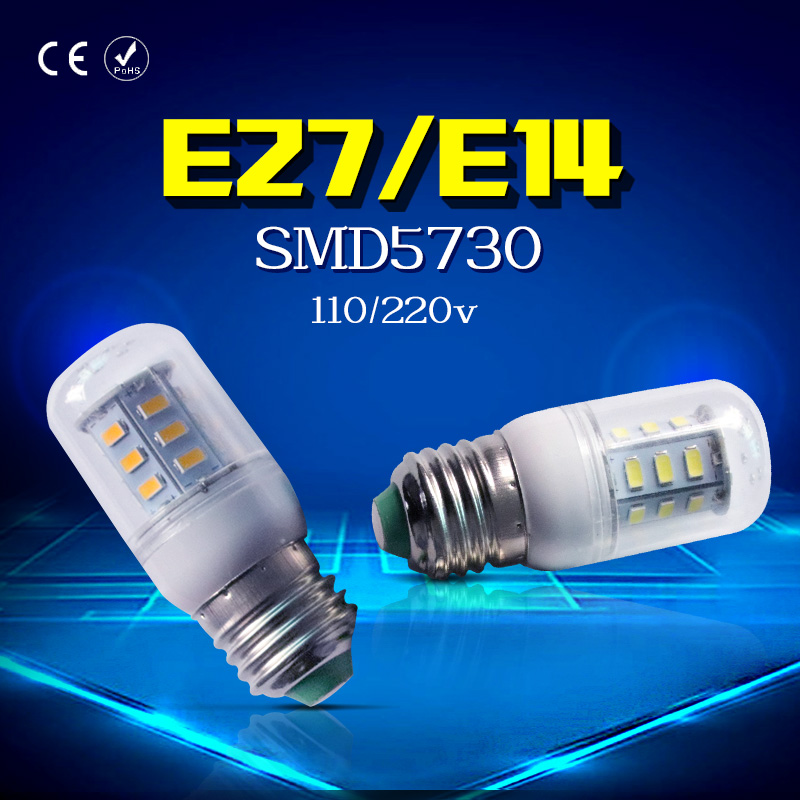 Corn Lamp LED Bulb E27 E14 Energy saving light bulbs 24 36 48 56 69 72leds AC220V SMD5730 bombillas led verlichting lampada 5pcs e14 led bulb candle energy crystal lamp 5w 7w smd2835 saving lamp light bulb home lighting decoration led lamp ac220v