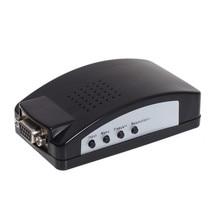 AV/Svideo to VGA Convertor High Resolution TV Signal Converter Adapter Digital S-video to VGA Switch Conversion for PC Notebook