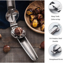 цены на TTLIFE 2-in-1 Quick Chestnut Clip Nut Cracker Sheller Walnut Pliers Metal Nut Opener 304 Stainless Steel Kitchen Tools Gadgets  в интернет-магазинах