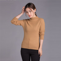 Knitted Shirt Color Female Half Turtleneck Woolen Sweaters Sweater Manufacturers On Behalf Of The Source