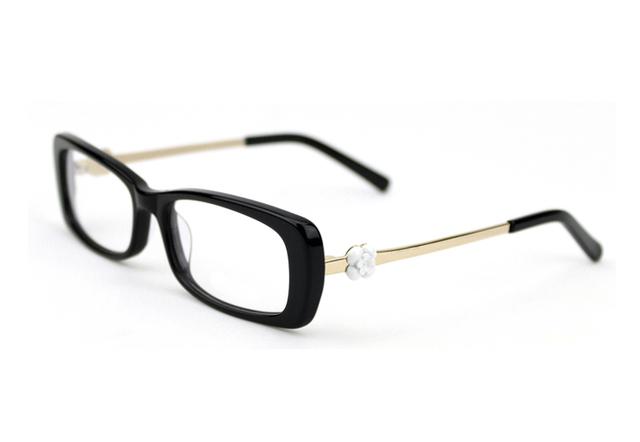 Vidrios Ópticos de Marca acetato del Lleno-borde Marcos de Anteojos de Moda Marco Óptico Gafas de grau Gafas de Ordenador Con La Flor