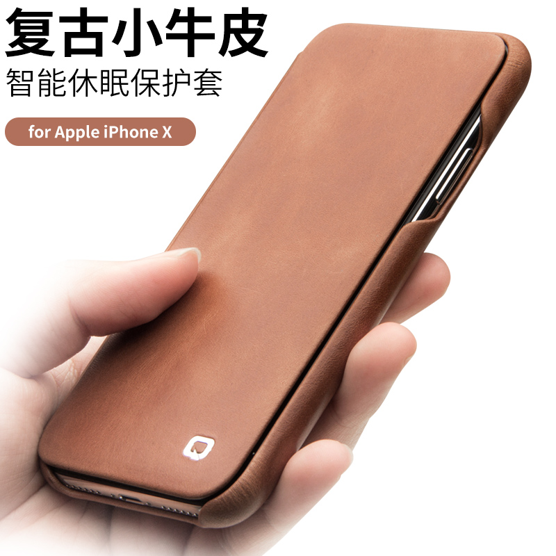 Wallet phone pouch bags card pocket for iphone x genuine full grain leather cover phone case for iphoneX Intelligent smart