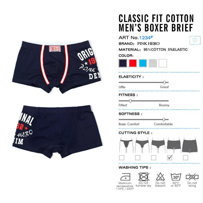 Pink Heroes Hot Mr Cheap Fashion Sexy Mens Boxers Shorts Cotton Male Fat Underwear Mens Panties Plus Size Loose Underpant