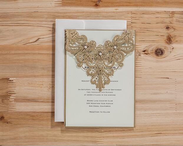 nuevo unids wishmade original champn oro flor del hueco de la hoja de tarjeta