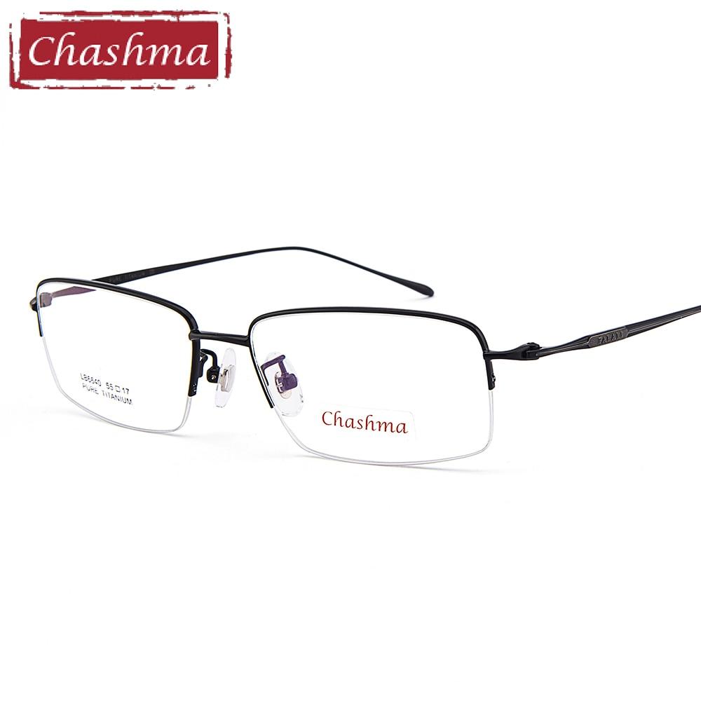 Chashma montures en titane pur pour hommes lunettes oculos grau lunettes cadre lunettes optique homme lentes opticos mujer