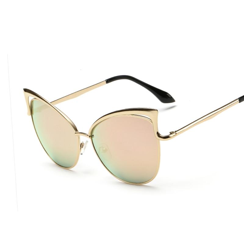 Noul mod real cadru metalic ochelari de soare pentru femei designer de brand retro ochelari de soare ochelari de pisică oculos de sol feminino