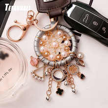 New Fashion Key Ring Dream Catcher Keychain Dreamcatcher Chain Feather Wind Chime Car Hang Up Accessory