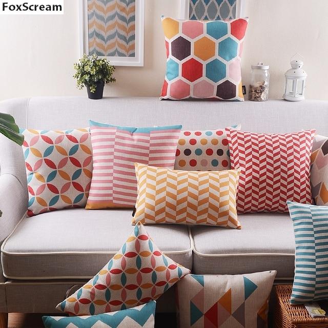 Europe sofa plaid cushion covers Geometric Decorative Sofa