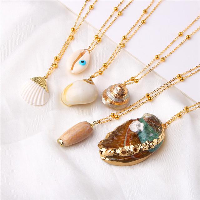 Sea Beach Shell Pendant Necklace