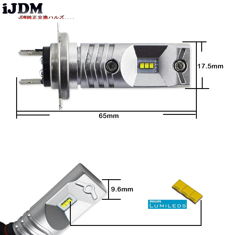 Image 3 - IJDM 6000 K مدعوم من Luxen LED H7 لمبات Led ل هيونداي جينيسيس سوناتا Veloster اللكنة على عالية شعاع النهار تشغيل أضواءh7 bulb 6000kled h7 6000kh7 led 6000k -