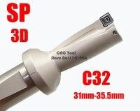 SP C32 3D SD 31 32 33 34 35 mm Indexa U Hızlı Matkap 3D için Yüksek Hızlı Matkap Delme makinesi Endekslenebilir Ekler