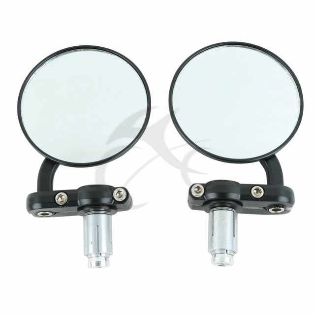 Motorcycle 3″ Round 7/8″ Handle Bar End Mirrors side mirror For Harley Honda Suzuki Yamaha Cafe Racer Bobber Universal motorbike