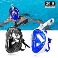 2018 NEW Full Face Snorkeling Mask Scuba Mask Underwater Anti Fog Women Men Kids Swimming diving mask Snorkel Diving Equipment
