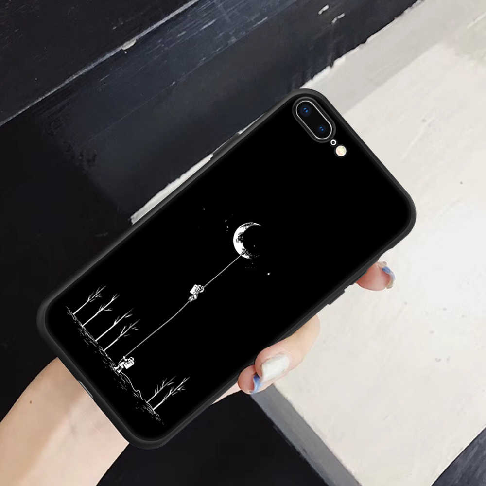 Мягкий рисунок чехол для iPhone X XS MAX XR 8, 7, 6, 6 S, 5 5S SE плюс за счет складки, мягкая модная задняя мешок TPU корпус под плетенную сумку Capa Funda чехлы