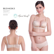 Special Beauty!Free shipping!Skin color Super low price Underwire Push Up top se