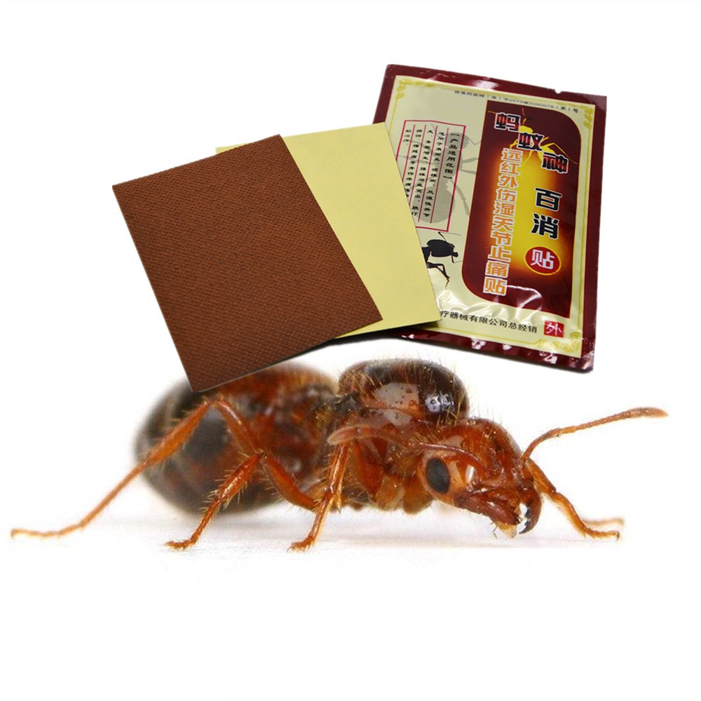 DISAAR 8 Patches 1 Bag Black Ant Essential oil Pain Relief Plaster Meridians in Essential Oil from Beauty Health
