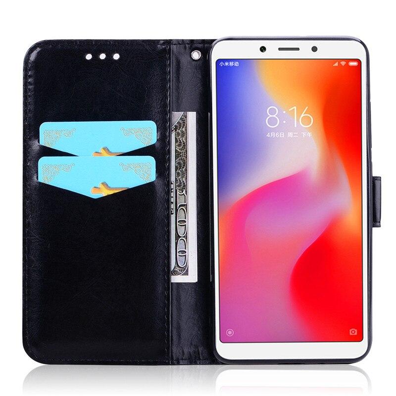 Flip Leather Case for Xiaomi Redmi 6A Global Phone Wallet Phone Cases for Xiaomi Redmi 6A Card Holder Cover Funda Redmi 6A