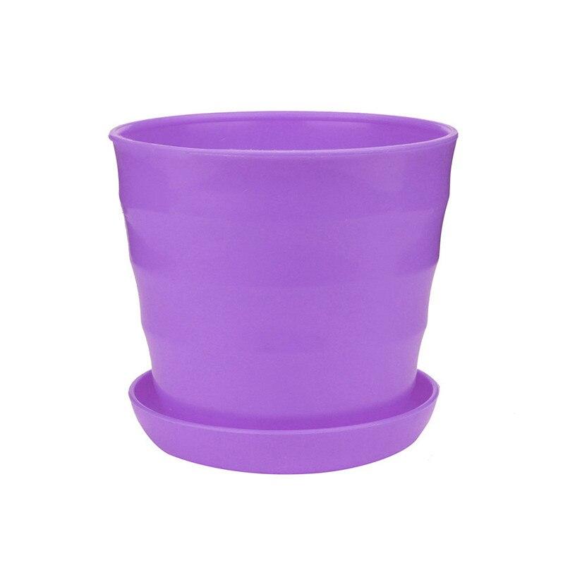 Colourful Flower Pots extra large Plastic Pot Succulent Plant Flowerpot Home Office Decor Flower Pots Planters wholesale #4M13 (9)