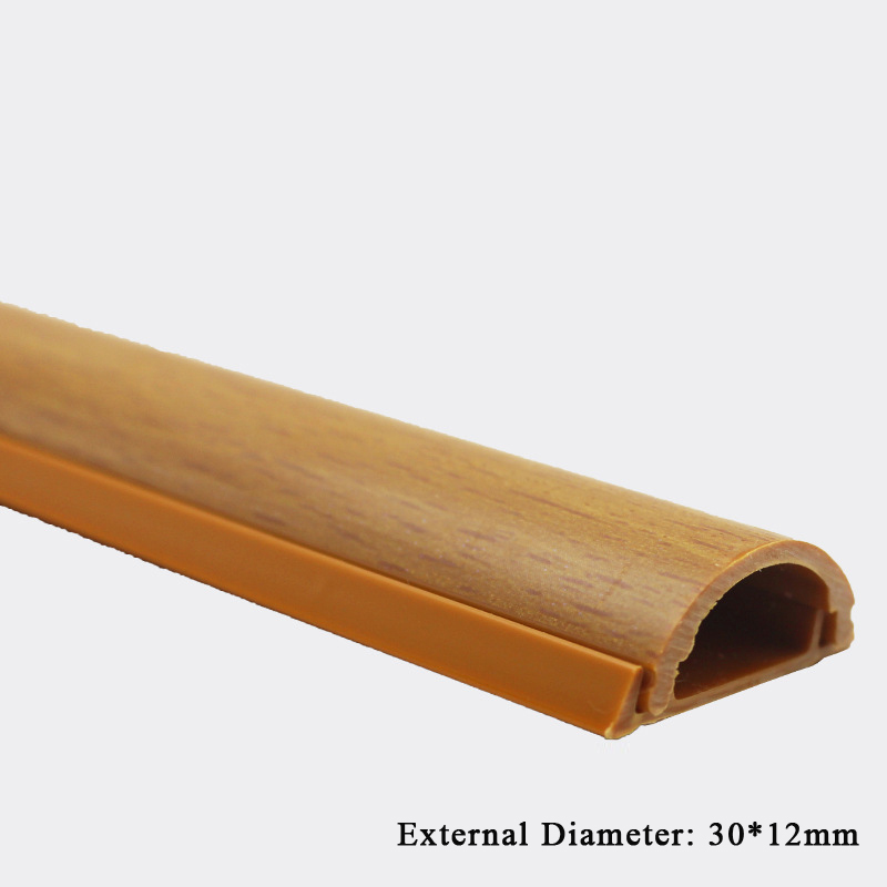 30x12mm Wood Effect Cable Raceway On Wall Wire Cover Surface Mount