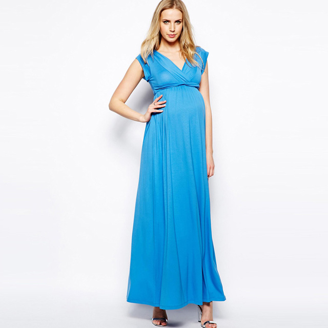 Summer Dress Pregnancy Clothes for Pregnant Women Noble Evening Prom Dress Elegant Women Party Vestidos Maternity Dresses -in Dresses from Mother & ...