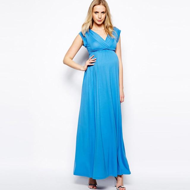 38a2a6410e1b Vestito Da estate Vestiti di Gravidanza per Le Donne Incinte Nobile Vestito  Da Promenade Da Sera