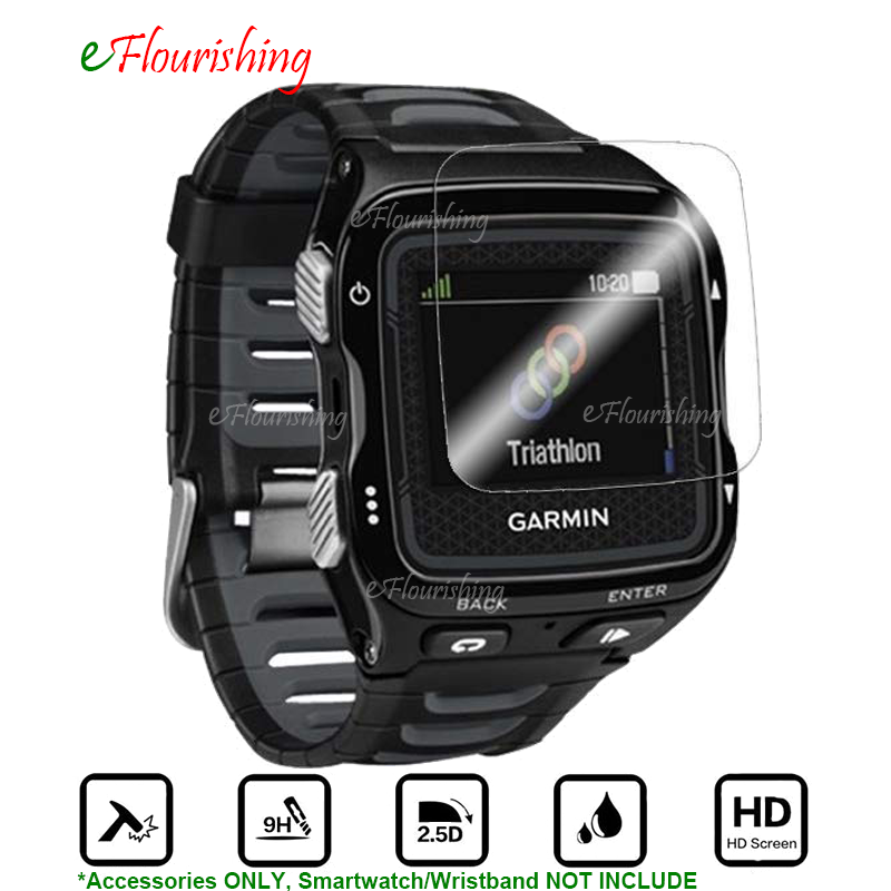 For Garmin Forerunner 920 XT 920XT Smartwatch Toughened Full Screen Protector Cover Tempered Glass Clear Protective Film Guard-@ top tempered glass lcd screen protector bottom pet clear full cover protective film guard for nintendo new 3ds xl ll 3dsxl 3dsll