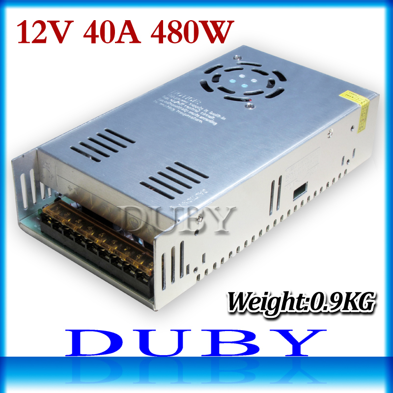 Small Volume 12V 40A 480W Switching power supply Driver For LED Light Strip Display AC100-240V Factory Supplier free shipping