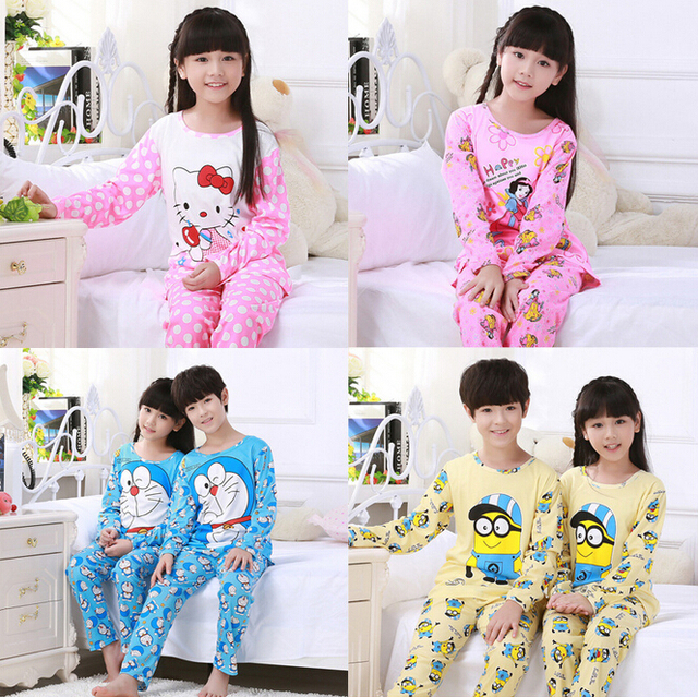 351a699586ba New kids Girls pajamas sets Princess pyjamas kids pijama infantil ...