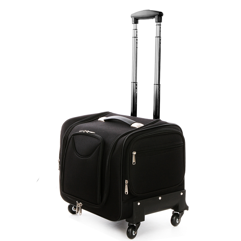 где купить Letrend Oxford Crocodile Rolling Luggage Spinner Suitcases Wheel Cabin Travel Bag Women Cosmetic Case Multi-function Trolley дешево