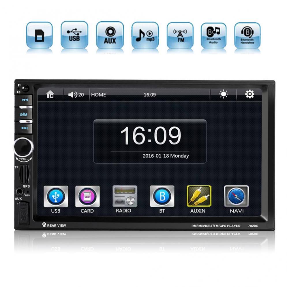 7 Inch Bluetooth 2 Din Touch Screen Car In Dash FM Radio Receiver MP5 Player with Wireless Remote Control t11 fm transmitter wireless in car bluetooth receiver stereo radio adapter car kit