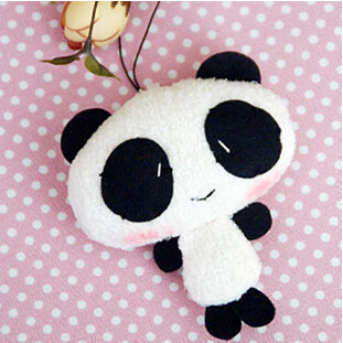 Plysch Panda Mobiltelefon hängsmycke, Babyleksaker