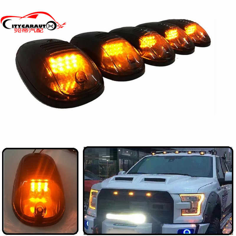 Car Styling Exterior Led Day Dome Light Cab Market Roof Amber Lights Fit For F