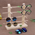 LAN LIN Double row frames wood display stand for glasses 3d glass display frame Sunglasses display stent incorporating props