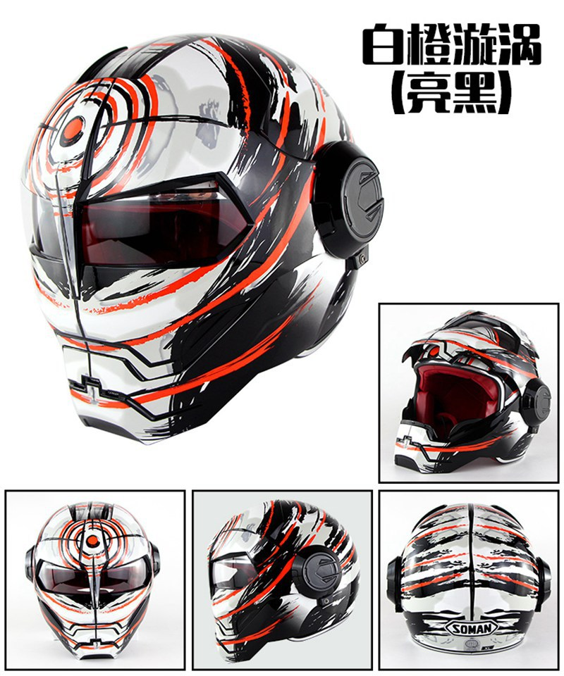 Motorcycle Helmet Full Face Helmet Iron Man Helmet High Quality Helmet Matt or Gloss Vortex Design masei mens womens war machine gray ironman iron man helmet motorcycle helmet half helmet open face helmet abs casque motocross
