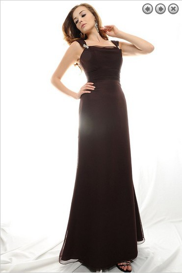 free shipping new fashion elie saab 2013 plus size brides maid vestidos formales party gown long chiffon black evening dresses