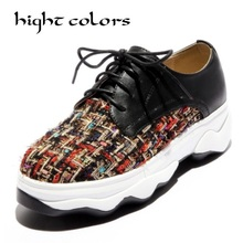 2018 Spring Women Casual Flats Shoes Brand Platform Breathable Comfotable Walking Shoes Lace Up Student Shoes Ladies Footwear(China)