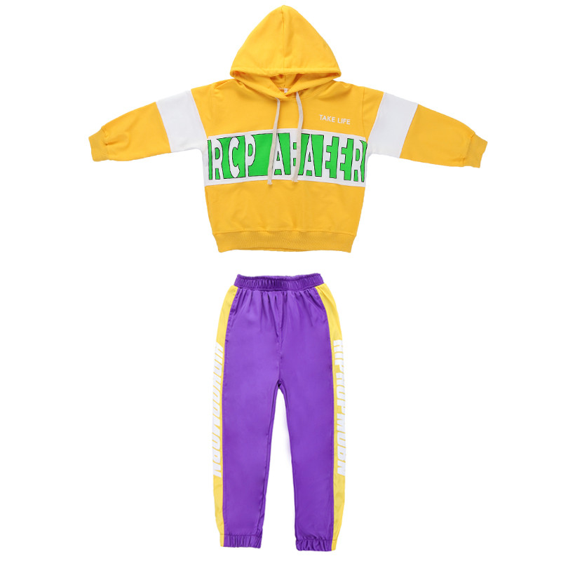 Image 5 - Baby Girls clothes 2 Piece Set Spring Autumn 2019 kids hip hop dance children costume  Sport Suits Dance Costumes girls outfitsClothing Sets   -
